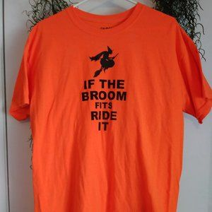 💲SALE💲15 Men's IF THE BROOM FITS Tee